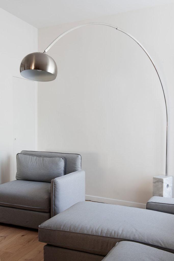 Design salotto con lampadario