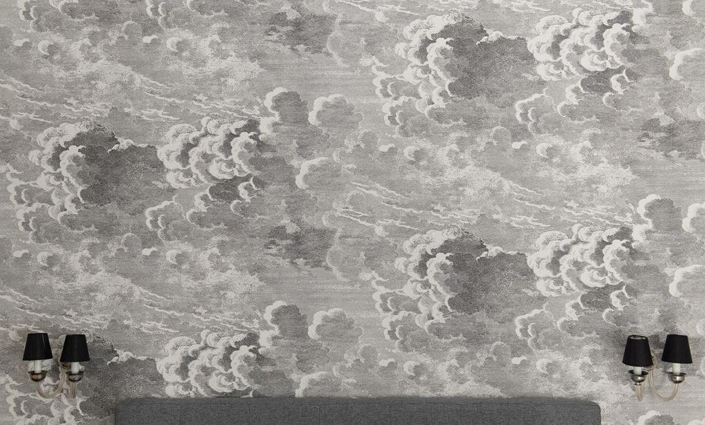 Carta da parati con nuvole ( design arredamento interno)