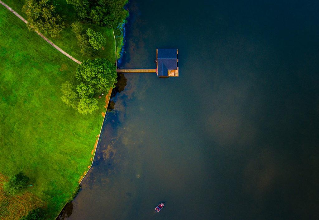 casetta sulla laguna ( vista dall'alto)